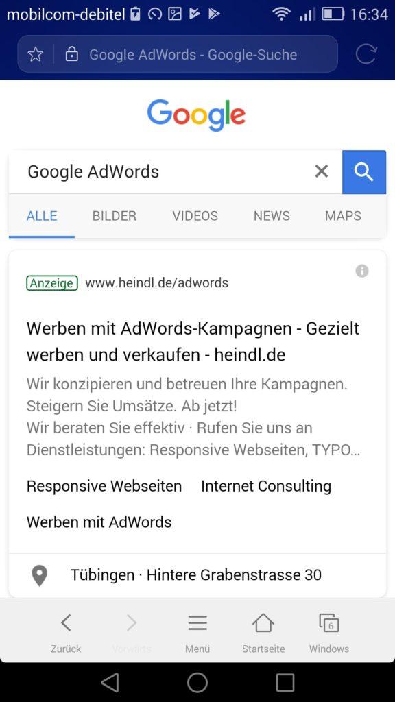 Neue Google SERPs